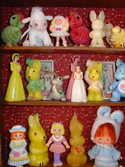 Howdy Madam (raining rita) Tags: ladies bunnies easter candles dresses lamb chicks 1991 1989 strawberryshortcake mattel thumper playskool carebearcousin cherrymerrymuffin lilyvanilly flipnfancy fancyfallon