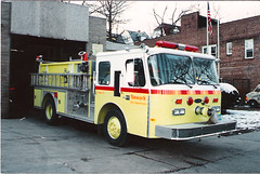 1990 Newark Fire Dept Engine 6 E-ONE NJ (Clemco/GTI) Tags: red 6 white st by truck fire photo mt nj engine tony lime newark prospect 1990 greco pumper eone