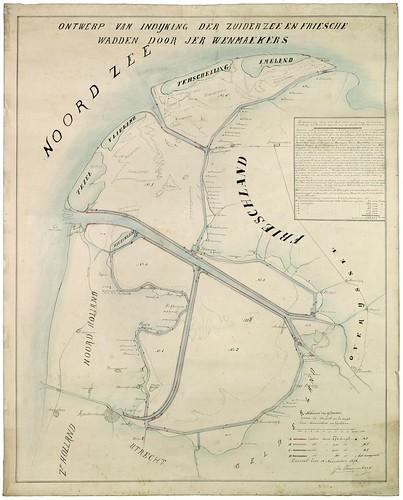 Plan inpoldering Waddenzee