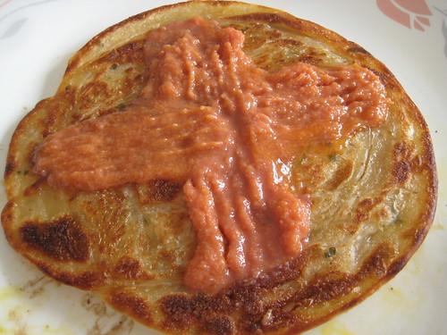 義美葱油餅 加 S&B 明太子