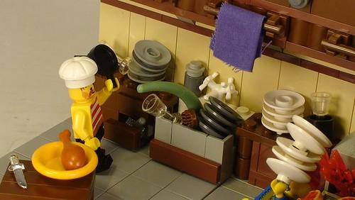 lego kitchen custom minifig and vignette