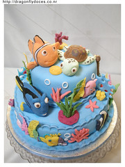 Finding Nemo / Procurando Nemo (Dragonfly Doces) Tags: ocean sea cake mar do finding nemo turtle under peixe bolo squirt tartaruga dory fundo oceano procurando
