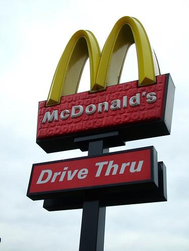 Drive Thru McD's -- kent restaurant sign uk mcdonalds drive-thru drivethru england golden crayford arches drive