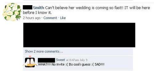 facebook wedding drama