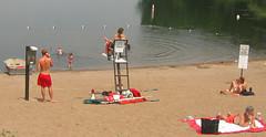Twin Cities sand n surf (4) (Mr Flikker) Tags: city boy shirtless urban woman lake man beach water girl minnesota female sand phone phonebooth minneapolis lifeguard blond sunburn rowboat wade twincities