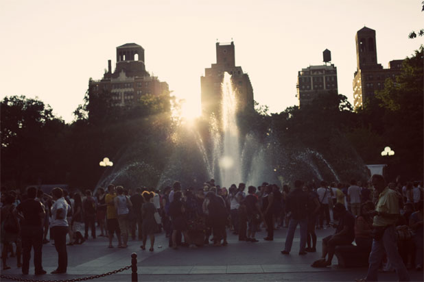 Washington Sq. Park fountain opens