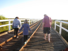 Walking on one mile jetty
