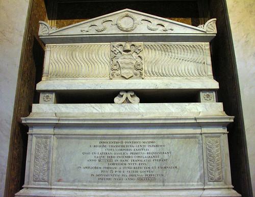 Sepulchre of Pope Innocent II in Santa Maria in Trastevere
