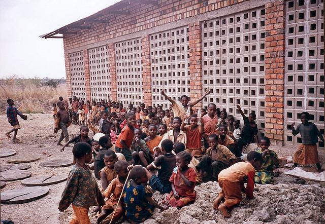 Children outside main building