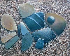 Stonefish, blue stripe (rackratchet) Tags: fish beach stone painting acrylic pebble talented visibly