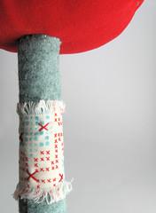 stem (das_kaninchen) Tags: sculpture mushroom woodland soft craft felt velvet plush textile softie fabric handsewn