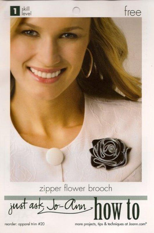 DIY Jo-Ann Fabrics Zipper Rose Corsage