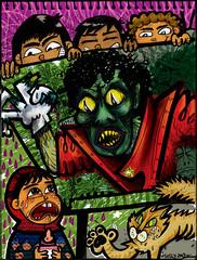 MAICOL Y YO (telly negotrpica) Tags: michael telly jackson ilustracion gacitua