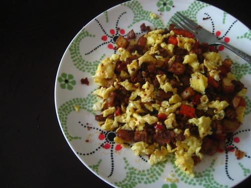 chorizo + eggs