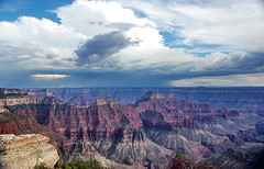 Thunderstorms from Bright Angel Point - Grand Canyon