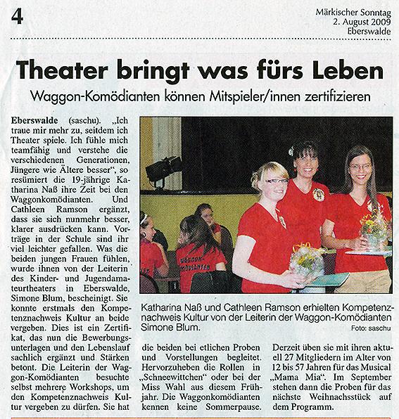 Kompetenzzeitungsartikel Sonntag