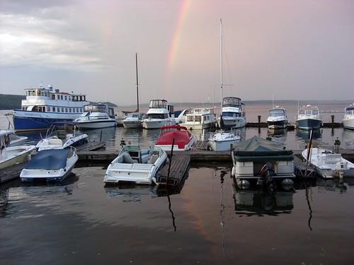 rainbow at the marina