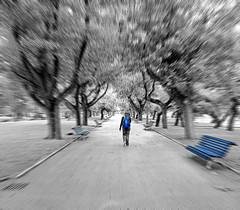 """Azul - bluE"" (Portiman!) Tags: bw motion cutout lumix vanishingpoint perspective movimiento bn explore desenfoque perspectiva 1001nights edition santander cantabria edicion zooming treatment selectivecolor tratamiento desaturadoselectivo ltytr1 fz18 portiman"