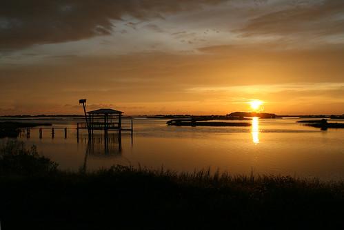 Cedar Key Boat Dock at Sunset
