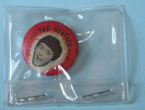 Paul McCartney button in plastic