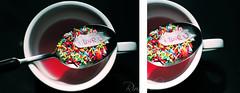 ..E poi a un tratto l'amore scoppi dappertutto. ([  ] R di Rimmel) Tags: red colour love canon rouge photo foto spoon sugar mug iloveyou rosso colori amore due eleonora tazza cucchiaio eos350 rimmel zuccherini dittico