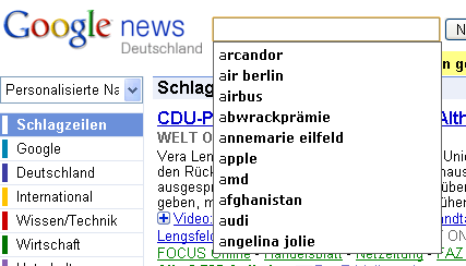 Google News Suggest