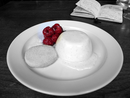 St Johns Bread and Wine - Buttermilk Pudding and Raspberries