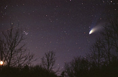 Comet Hale-Bopp (C/1995 O1) Over Forest (Radical Retinoscopy) Tags: sky tree film night stars star minolta tail competition scan astrophotography m45 astronomy dust comet hale comets srt101 astrophoto ion bopp halebopp earthandsky o1 nikoncoolscanv pleadies c1995 c1995o1 Astrometrydotnet:status=solved Astrometrydotnet:version=12233 Astrometrydotnet:id=alpha20090987419114