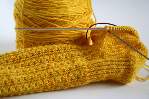 Conwy sock in progress