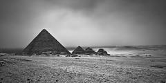 Civilization (Khaled A.K) Tags: blackandwhite bw print mono egypt cairo civilization pyramids khaled giza 2x1 kashkari