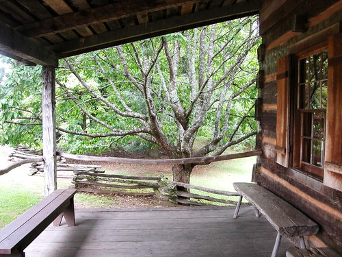 Porch Historic Building - Cades Cove