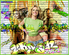 britney spears (urban) graffiti! (BETHGON blends) Tags: urban spears pop princes britney of bethgon