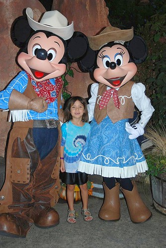 Livie with Mickey and Minnie