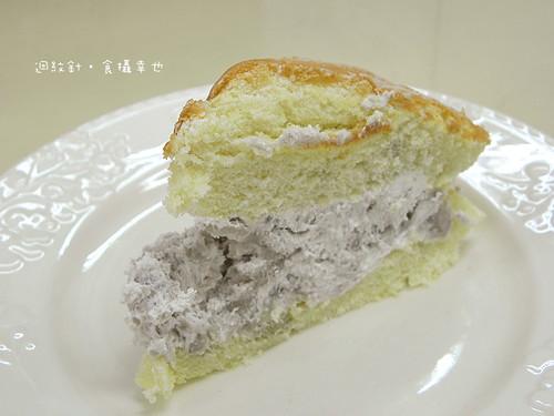 南投萊緹蛋糕芋頭波士頓派切片