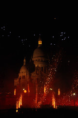 Sacré Coeur on fire