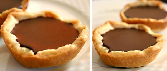 Miniature Chocolate Truffle tarts