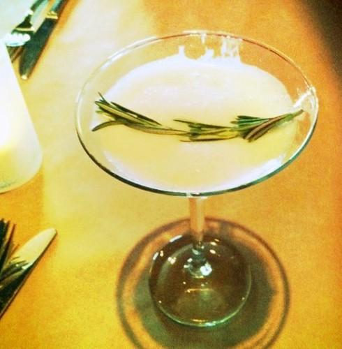 pineapple martini w/ rosemary