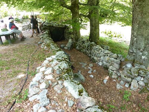 Un couloir de traite (U cumpulu) des bergeries de Purtetu