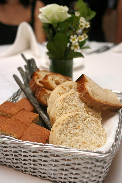 Italian breads in basket