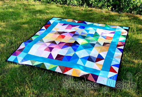 'Shattered rainbow' quilt finished (1)