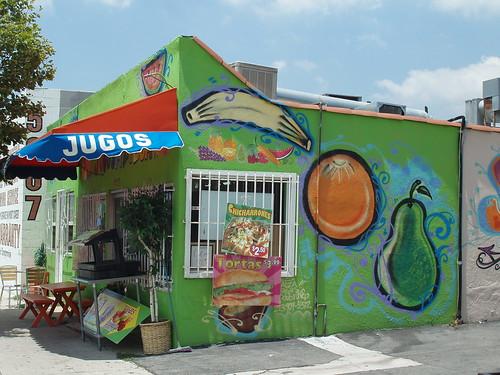 Jugos Azteca side view