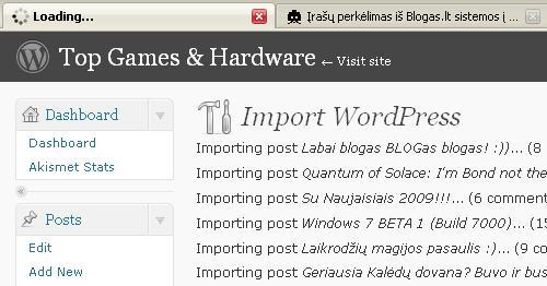 Blogo perkėlimas iš BLOGas.lt į WordPress 2.7 [updated]