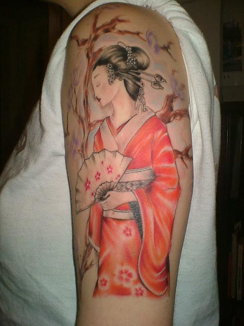 Geisha Girl Tattoo. It's she pretty! I love it!