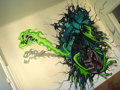 fromanotherworld (RABBIT EYE MOVEMENT) Tags: street rabbit eye art graffiti movement indoor inoperable bande nychos braindamag