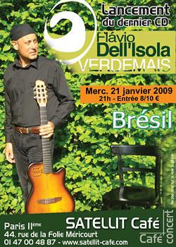 Flavio Dell Isola en concert au SATELLIT Café - Janvier 09