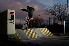 Alen Fs Blunt (RobSalmon) Tags: uk 2 two england hairy robert car with shot skateboarding britain yorkshire united salmon kingdom stall rob east skate skateboard barrier skater hull blunt skateboarder fs flashes alen strobist hairyrob
