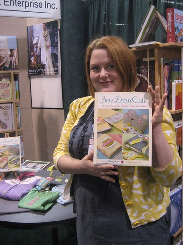 Jenny Ryan and a copy of her new book!!! Sew Darn Cute