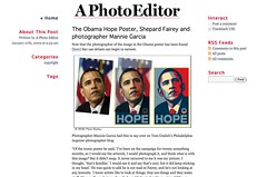 A Photo Editor - The Obama Hope Poster, Shepard Fairey and photographer Mannie Garcia_1233267685339