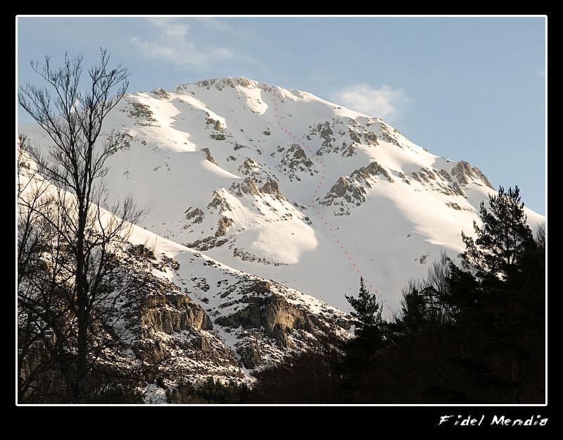 Agüerri desde Gabardito por la mañana ruta