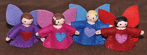 Felt Valentine's Fairies